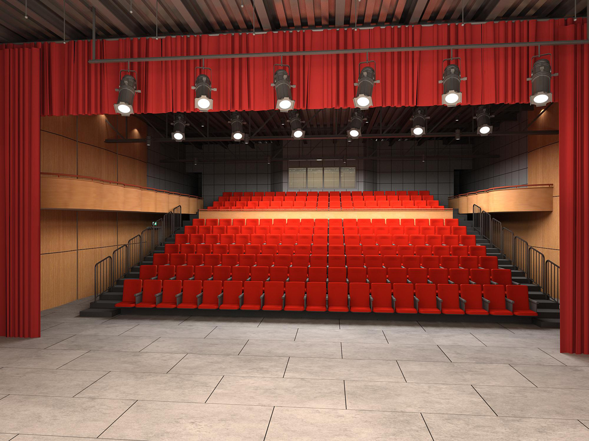 Theatre interior 1 to seating